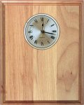 Genuine Red Alder Clock Plaque Alder Wood Plaques