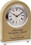 Light Brown Leatherette Arch Clock Arch Awards