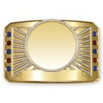 Glitter Belt Buckle Medallion Belt Awards
