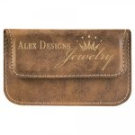Leatherette Soft Business Card Holder -Rustic/Gold Business Card Holders