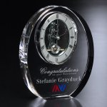 Bradford Clock Clear Optical Crystal Awards