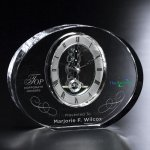 Benton Clock Clear Optical Crystal Awards