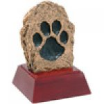 Paw Print Resin Award Color Tek Resin Trophy Awards