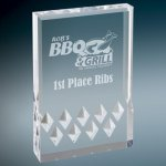 Diamond Mirage Acrylic -Silver Colored Acrylic Awards
