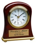 Rosewood Piano Finish Bell Shaped Clock Desk Clocks