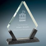 Diamond Premier Glass with Black Marble Base Diamond Awards