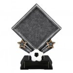 Diamond Resin -Soccer Diamond Resin Trophy Awards