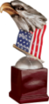 Resin Eagle with Flag and Base Eagle Resin Trophy Awards