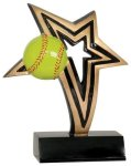Softball Infinity Star Resin Infinity Star Resin Trophy Awards
