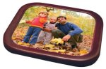 Mahogany Frame Square Coaster Kitchen Gifts