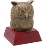 Owl Resin Award Mascot Resin Trophy Awards