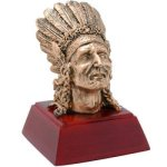 Resin Sculptures -Indian  Mascot Resin Trophy Awards