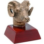 Resin Sculptures -Ram  Mascot Resin Trophy Awards