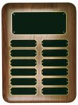 Elliptical Walnut Perpetual Plaque Medium Perpetual Plaques