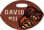 Glossy Double Sided Football Bag Tag Misc. Gift Awards