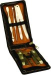 Black Leatherette 7 Tool Manicure Set Misc. Gift Awards