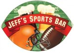 Football Shaped Hardboard Coaster Misc. Gift Awards