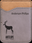 Leatherette Phone Wallet -Gray Misc. Gift Awards