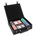Leatherette Poker Gift Set -Black/Silver Misc. Gift Awards