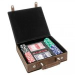 Leatherette Poker Gift Set -Rustic/Gold Misc. Gift Awards