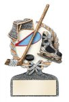 Multi Color Sport Resin Figure -Ice Hockey Multi Color Sport Resin Trophy Awards
