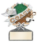 Multi Color Sport Resin Figure -Coach Multi Color Sport Resin Trophy Awards