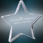 Crystal Star Paperweight Paper Weight Crystal Awards