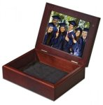 Mahogany Keepsake Box With Two Sided Photo Insert Photo Gift Items