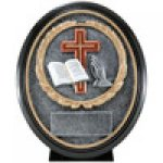 Premium Resin Ovals -Religion Premium Resin Oval Trophy Awards