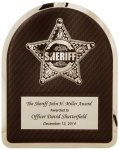 Sherrif's Department Badge on Black Background Hero Plaque Recognition Plaques
