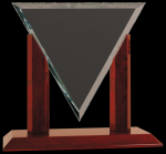 Diamond Triangle Clear Glass Award Rosewood Glass Awards