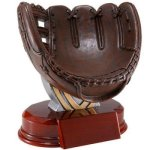Resin Sculptures -Softball Holder Signature Shield Resin Trophy Awards