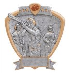 Signature Series Shield Award -Trap Shooter Signature Shield Resin Trophy Awards