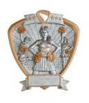 Signature Series Shield Award -Cheerleader Signature Shield Resin Trophy Awards