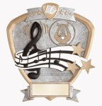 Signature Series Shield Award -Music Signature Shield Resin Trophy Awards