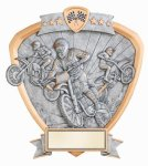 Signature Series Shield Award -Motocross Signature Shield Resin Trophy Awards