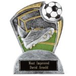 Large Spin Award -Soccer Spin Resin Trophy Awards