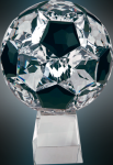Crystal Soccer Ball on a Base Sport Crystal Awards