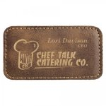 Leatherette Name Badge With Magnet Rustic Square Rectangle Awards