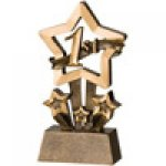 Star Resin Awards -1st, 2nd and 3rd Place  Star Step Resin Trophy Awards