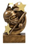 Star Swirl Award -Softball Star Swirl Resin Trophy Awards