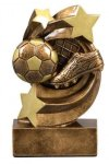 Star Swirl Award -Soccer Star Swirl Resin Trophy Awards