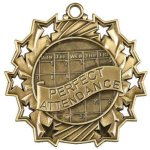 Ten Star Medal -Perfect Attendance  Ten Star Medal Awards