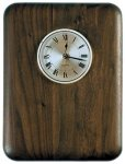 Elliptical Edge Round Corner Genuine Walnut Clock Plaque Walnut Plaques