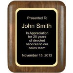 Elliptical Solid Walnut Plaque Walnut Plaques