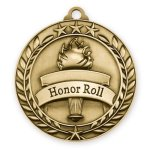 Wreath Medal -Honor Roll Wreath Antique Medal Awards